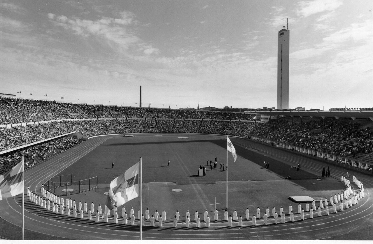 Stadium view of LWF Fourth Assembly in Helsinki, Finland.  Photo: LWF Archives