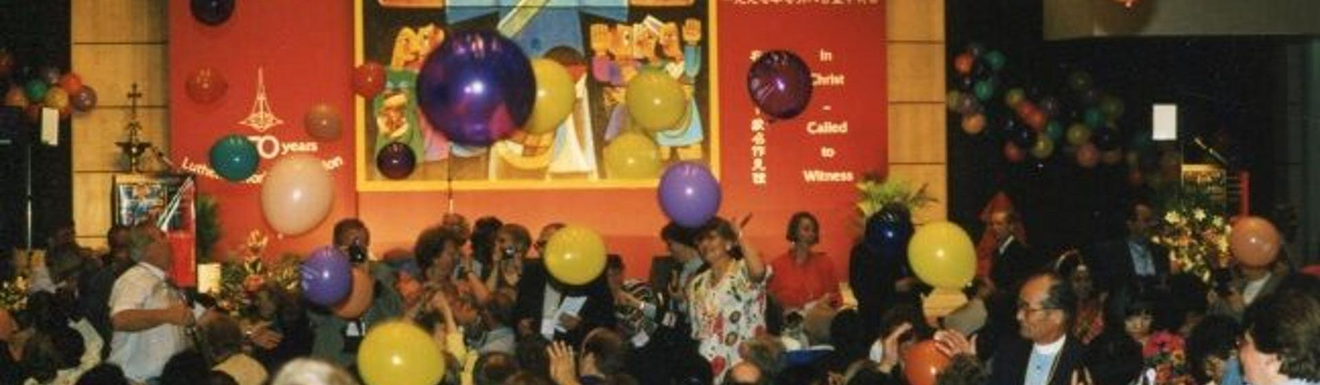 The LWF Ninth Assembly took place in Hong Kong, China in 1997. Photo: LWF Archives