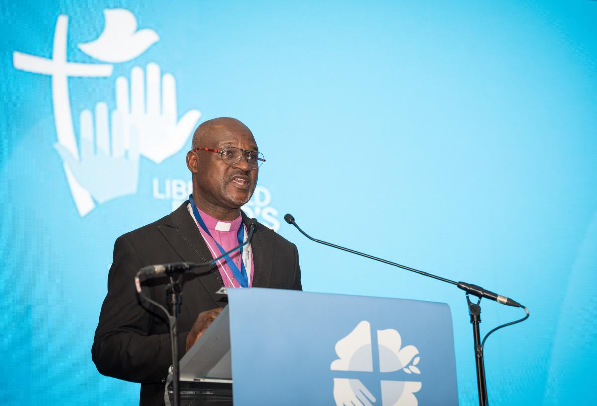 Rev. Dr Musa Panti Filibus, Archbishop of the Lutheran Church of Christ in Nigeria, President of The Lutheran World Federation. Photo: LWF/Albin Hillert