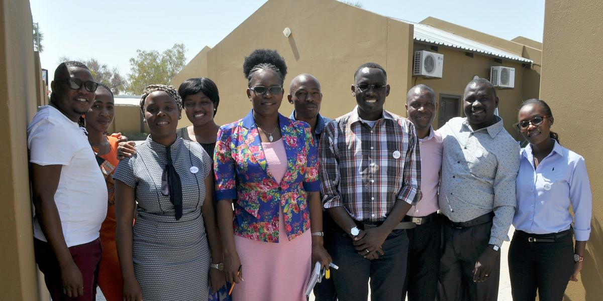 Members of the Namibia planning team for the youth pre-Assembly.