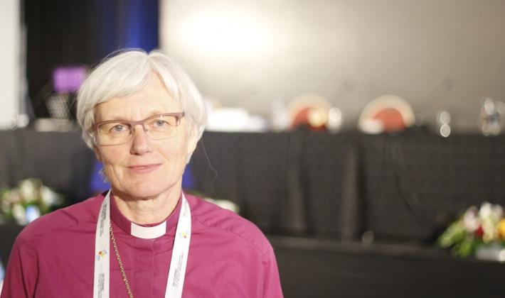 """The connection of proclamation of the gospel and political responsibility for the life of the world, together with the combination of praises sung and testimonies heard, will be cherished,"" says Archbishop Antje Jackelén from Sweden. Photo: LWF/Johan Ehrning"