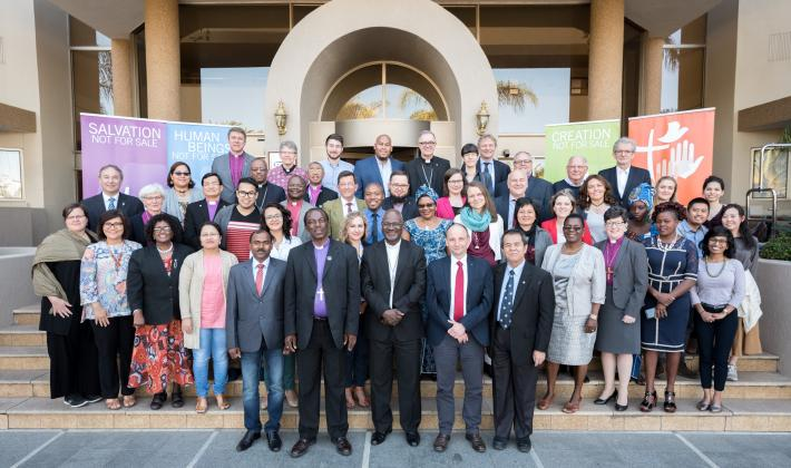 The newly elected Council of the Lutheran World Federation during its first meeting on 17 May in Windhoek, Namibia. Photo: LWF/Albin Hillert