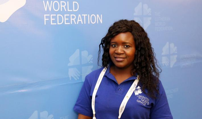 "Blessed Lillian Moyo from Zimbabwe: ""My mother is a pastor"". LWF/Dirk-Michael Grötzsch"