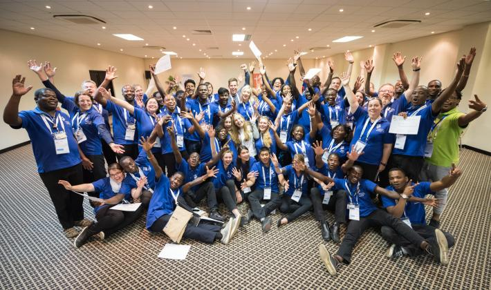 As the Twelfth Assembly of the Lutheran World Federation is coming to an end, young stewards and volunteers receive diplomas as a token of gratitude from the LWF leadership. Photo: LWF/Albin Hillert