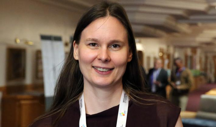 """If we do not take care of the planet humanity will be destroyed. In order to save humanity we need to take care of creation"" says Elina Hienonen from Finland. Photo: LWF/Dirk-Michael Grötzsch"