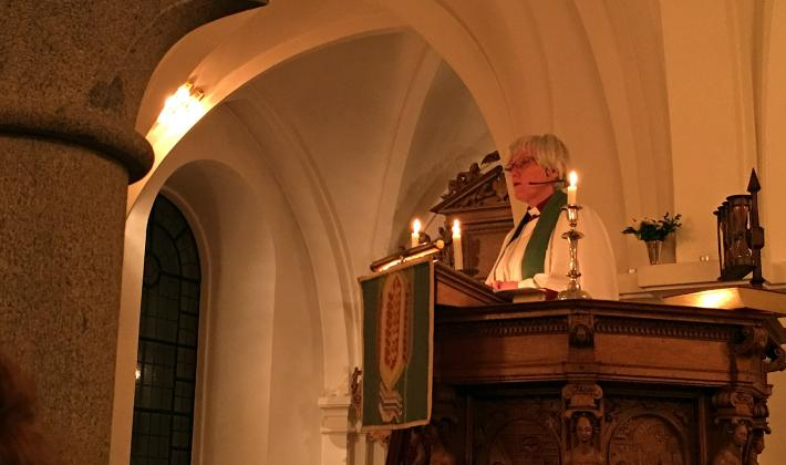 Church of Sweden Archbishop Antje Jackelén in a sermon at the opening worship of the Europe Pre-Assembly