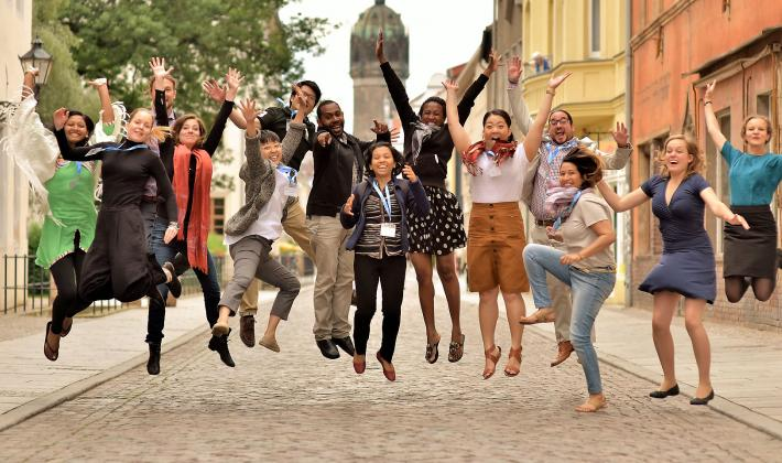 Young Council members in Wittenberg, 2016. Photo: LWF/M. Renaux