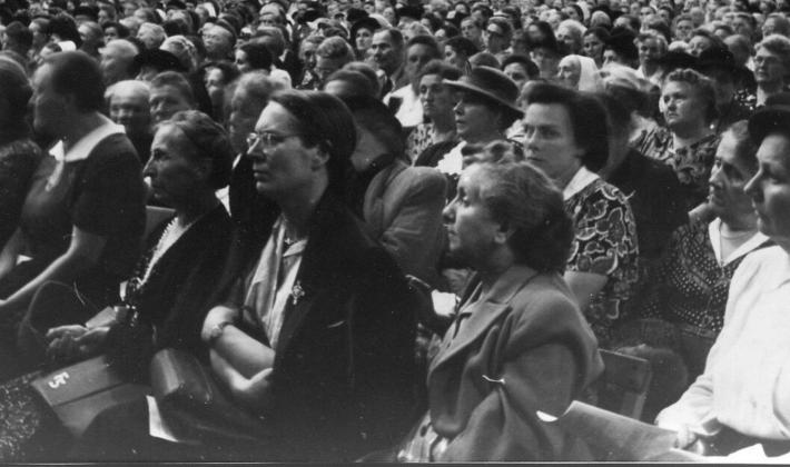 The LWF Second Assembly took place in Hanover, Germany in 1952. Photo: LWF Archives