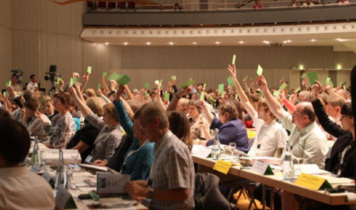 The LWF Eleventh Assembly took place in Stuttgart, Germany in 1990. Photo: LWF Archives